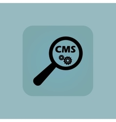 Pale blue CMS search icon vector
