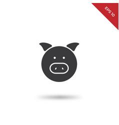 pig portrait icon vector image