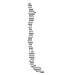 Pixel chile map vector