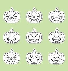 pumpkins for Halloween set vector image