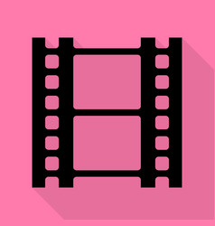 reel of film sign black icon with flat style vector image