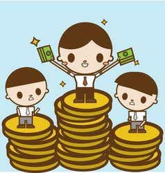 Salary variation Business concept cartoon vector image