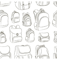 School backpacks set pattern vector
