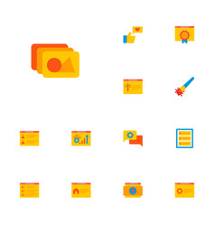 set of development icons flat style symbols with vector image