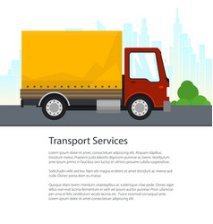 Shipping and freight of goods brochure design vector