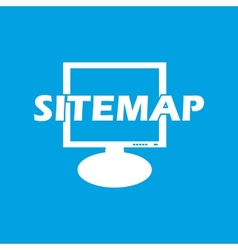 Sitemap white icon vector image