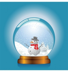 Snow globe vector