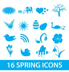 spring icons set eps10 vector image