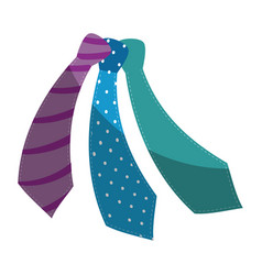 tie accessory fashion vector image