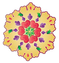 Traditional Ottoman design with a pattern of two vector
