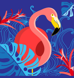 Tropical with a portrait of a red vector