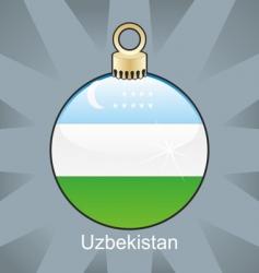 Uzbekistan flag in bulb vector image
