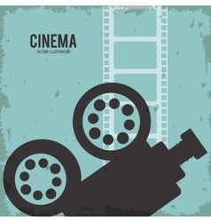 Video camera movie film reel cinema icon vector