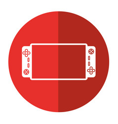 video game console portable shadow vector image