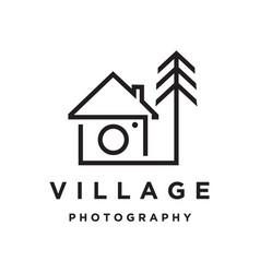 village photography logo vector image