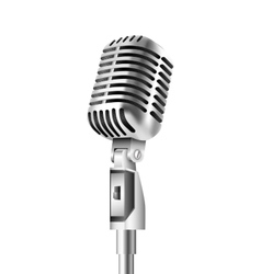 Vintage Microphone on white background vector image