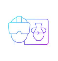 Vr gradient linear icon vector