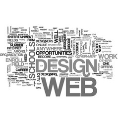 web design schools text word cloud concept vector image