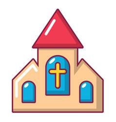 wedding church icon cartoon style vector image
