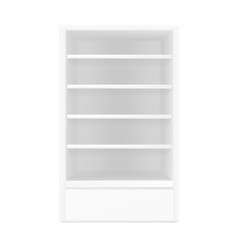 white gray pos poi outdoorindoor 3d empty vector image