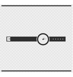 wrist watch icon black color on transparent vector image