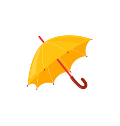 yellow rainy umbrella isolated on white background vector image