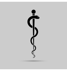 Aesculapius medical symbol or symbol featuring a vector image