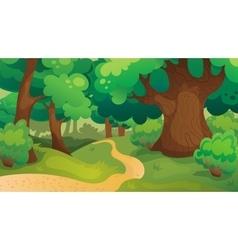 Oak Forest Game Background vector image vector image