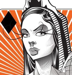 Queen Gold vector image vector image