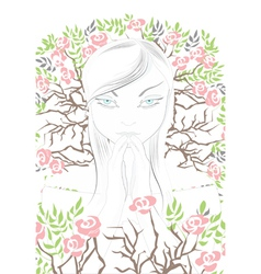 spiritual girl vector image