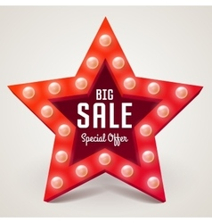 Big Sale retro light banner vector image vector image