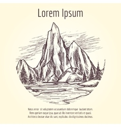 Landscape tourist banner design vector image vector image