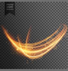 wavy transparent light effect background vector image vector image