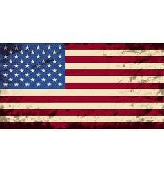 American flag Grunge background vector image