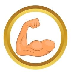 Biceps hands icon vector image vector image