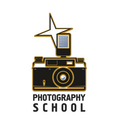 camera flash photography school icon vector image vector image