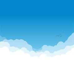 Clouds layers on blue copy vector image