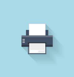 Flat printer web internet icon vector image