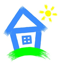 house on a white background vector image