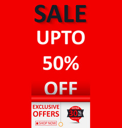 sale banner with discount vector image vector image