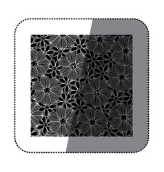 sticker black background with white contour vector image