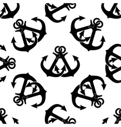 Crossed ship anchors seamless pattern vector image