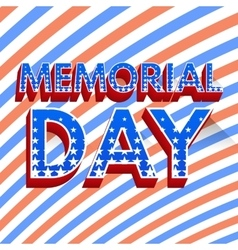 Memorial day poster vector image