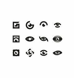modern professional sign logo icon eyes vector image