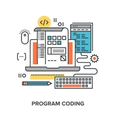 program coding concept vector image vector image