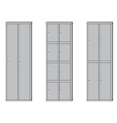 School lockers set vector image