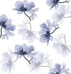 seamless poppies vector image vector image