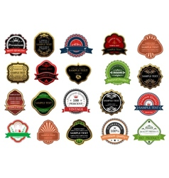 Set of promotion badges for retail business vector image