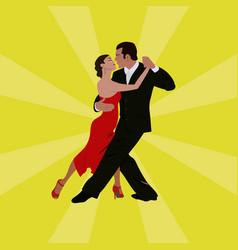 tango dancing couple man and woman vector image