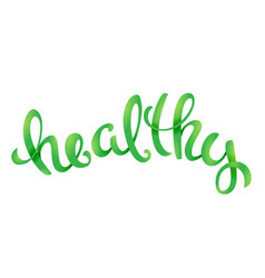 vegan related lettering vector image vector image